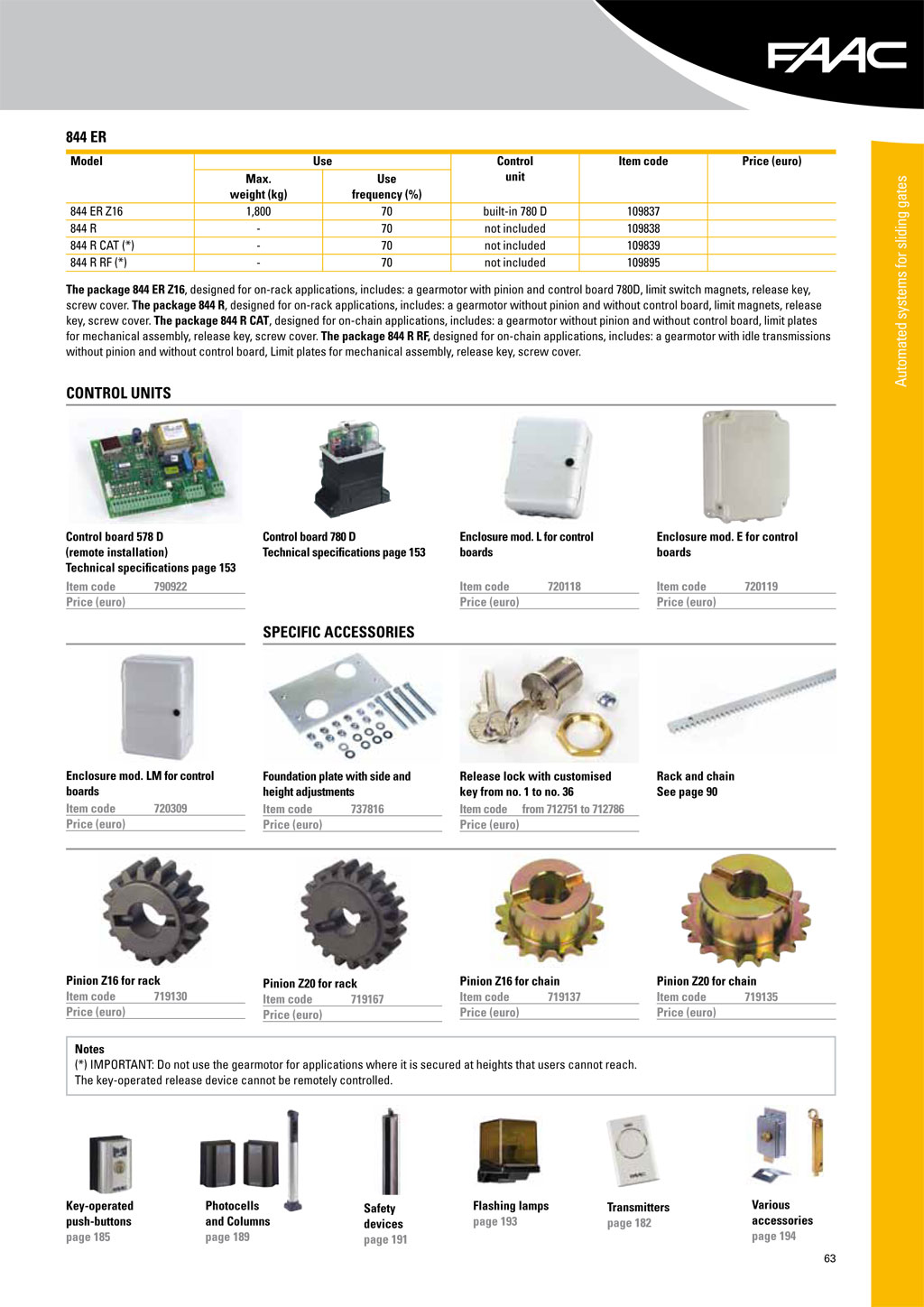 Faac 844 Wiring Diagram Free Download Pro Tech Brochure 2 Autogate Powered By Protech Engineering Services Residential Electrical Diagrams At